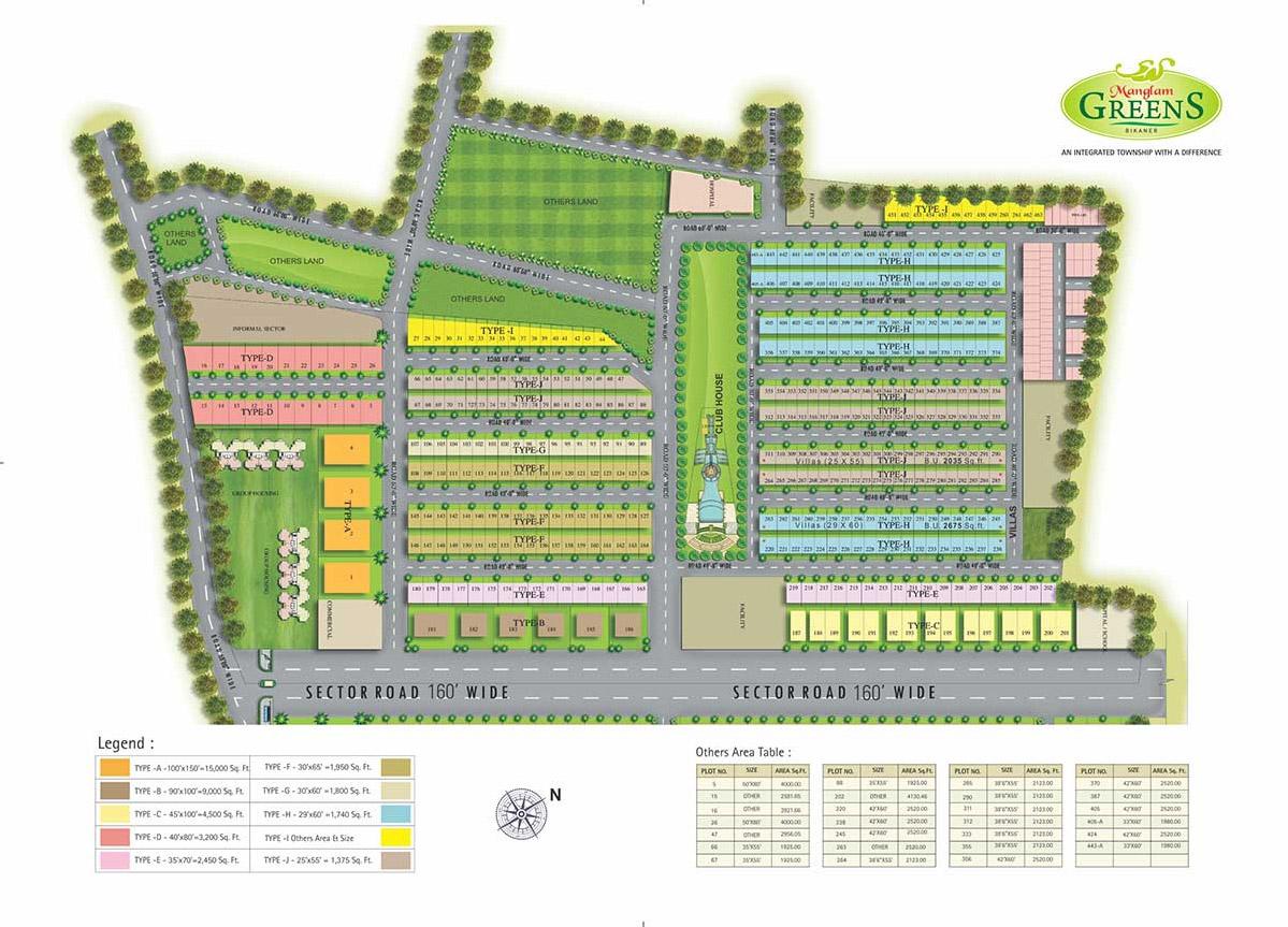 Manglam Green Bikaner-layour-plan