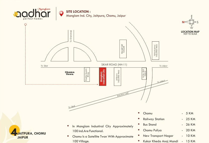 Location Map Manglam Industrial City